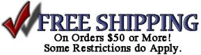 Free Shipping on Orders $50 or More!